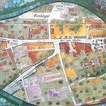 La mappa su ceramica della cittadina di Biot