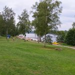 View to the beach in Vimmerby Camping area