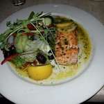 Atlantic Salmon with a Greek Salad