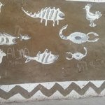Wall paintings in Nubian Village