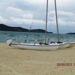 Complimentary hobie-cat sailboat