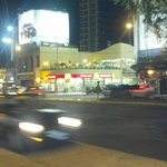 Esquina Santa fe y Godoy cruz esquina derecha al frente de mc donald el Hotel