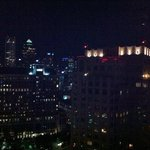 The nightime skyline view from the Crescent Club
