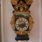 Antique clock in the dining room