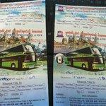 Bus Tickets - gekauft an der Sakal Rezeption