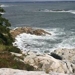 Part of the rocky coastline area