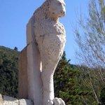 Ferentillo, la piazzetta di Precetto con il Leone monopibede