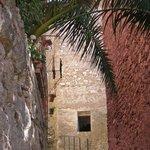 Ferentillo, via della Rocca... la scalinata che conduce al Museo