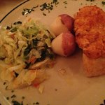 The Chilean sea bass with stuffed crab meat