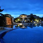 Grounds at dusk/pool