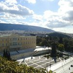View from the restaurant,Greek Parliament.
