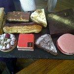 dessert slate at Aubaine