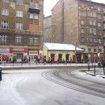 Road opposite hotel