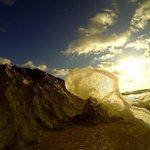 Sun rise from beach
