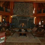 The beautiful fireplace at Hecks