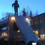 Ski jump parade float