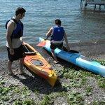 Our guests enjoying their kayak rentals
