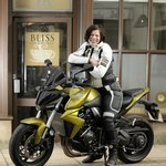 Jacqui and her bike