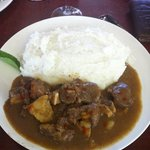 A typical South African dish ! pap and vleis !