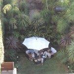 Kleine, tropische Gartenanlage