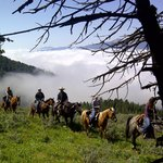 Horseback riding from the Ranch