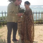 Married under the coconut tree at Lace Rock