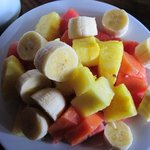 Part of breakfast...Fresh and amazing fruits
