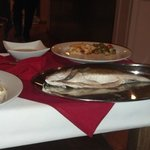 Branzini  which was served whole & filleted at the table.