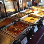 section of the lunch buffet