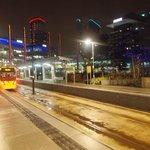 Tram stop at Media City