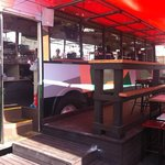 front of bus bar