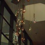 chandelier in lobby