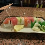 Rainbow roll had hair on it