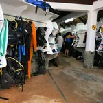 dive shop area