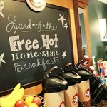 Free Hot Home-style breakfast each morning.