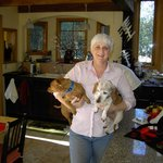 Lisal and her 2 wonderful little dogs