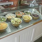 The famous salad bar.