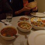 Kadahi Chicken, Dal maharani and Jalfrezi