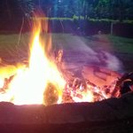Evenning Bonfire at the lawn