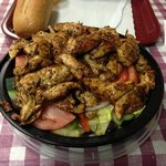 Grilled Chicken Salad, with double chicken!! it was awesome!
