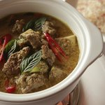 Green curry of pure bred wagyu beef