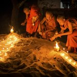 The festival of light.  Photo by Peter Derrett