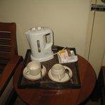 Набор для чая и кофе всегда обновлялся каждый день