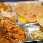 8-item Thali Platter with Chicken Tikki Marsala