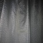 repair in curtain fabric - very poor