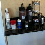 coffee area in breakfast room