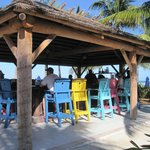 Colorfull chairs at the Tiki Bar