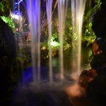 Waterfall at night.