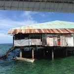 The snorkelling trip 'restaurant' from the water