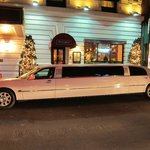 The entrance with our limo ;-)